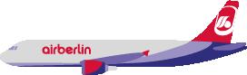 Illustration of an Airberlin plane